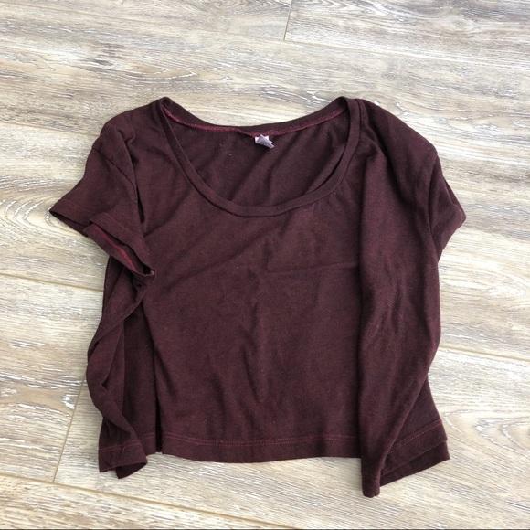 American Apparel Tops - american apparel maroon crop top 5c20b3fc1